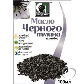 """Масло нерафинированное пищевое черного тмина """"Сибирское"""" марка П, 100 мл."""