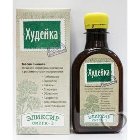 """Масло льняное с растительными экстрактами """"Худейка"""" 0,2л*30"""