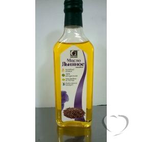 """Масло нерафинированное пищевое льняное """"Сибирское"""" марка П, 250 мл."""