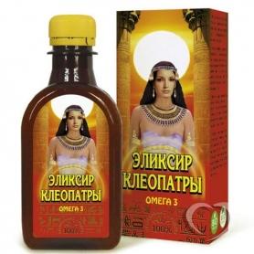 """Масло льняное   с растительными экстрактами """"Эликсир Клеопатры"""" 0,2л*30"""