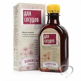 """Масло льняное с растительными экстрактами """"Для сосудов"""" 0,2л*30"""